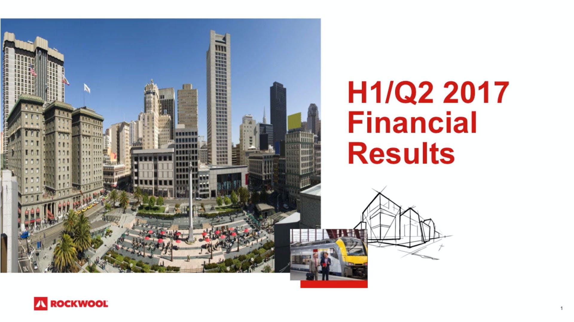 Financial report webcast
