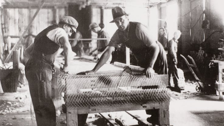 Production at the Factory in Hedehusene late 1930.