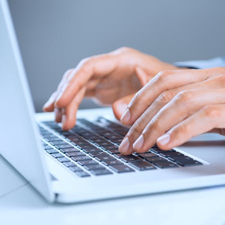 hands on keyboard, laptop, press, contact