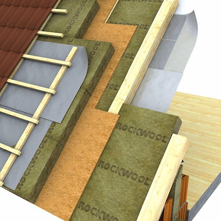 pitched roof illustration over the rafters