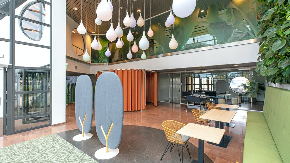 Acoustic ceiling solution: Rockfon Color-all®, 600 x 600