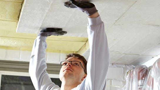 product, ceiling, cellar ceiling, basement ceiling, installer, installation, Planarock Top, germany, job 4097