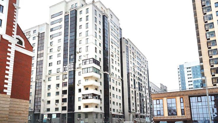 Apartment building, 16 floors, 25 years of Rockwool, Rockwool 25