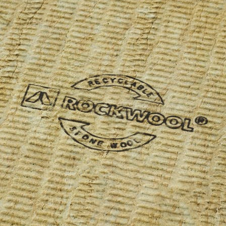 recyclable stone wool, recycable stone wool, germany, recycling, logo, flatroof plate, fri, plate, rockcycle