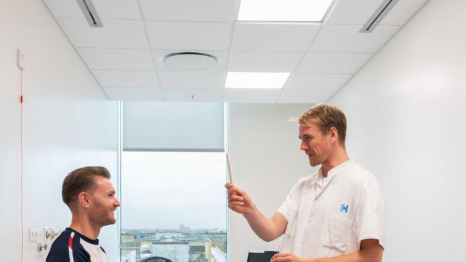 Acoustic ceiling solution: Rockfon Blanka®, E15, 600 x 600