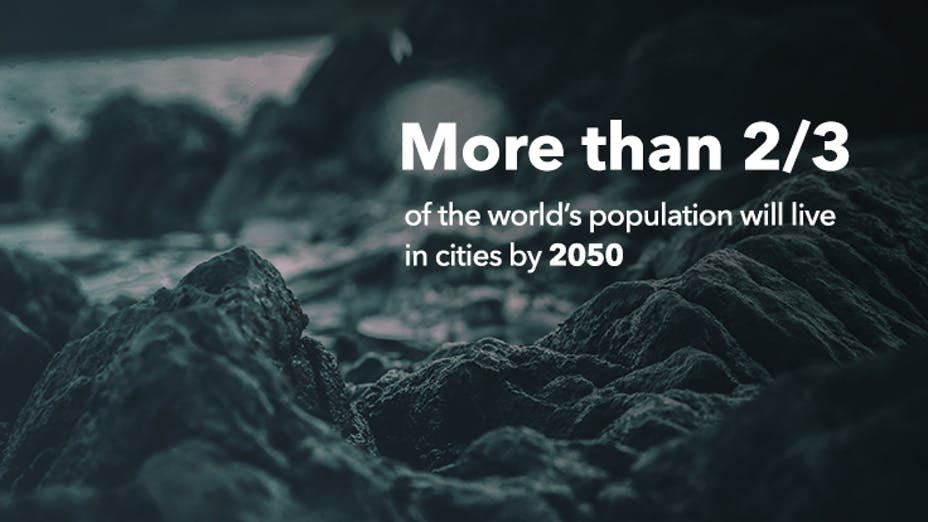 More than 2/3 of the world's population will live in cities by 2050