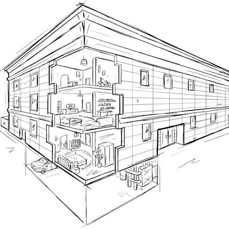 Sketch - MUH, multi-family home, multi-unit housing, residential