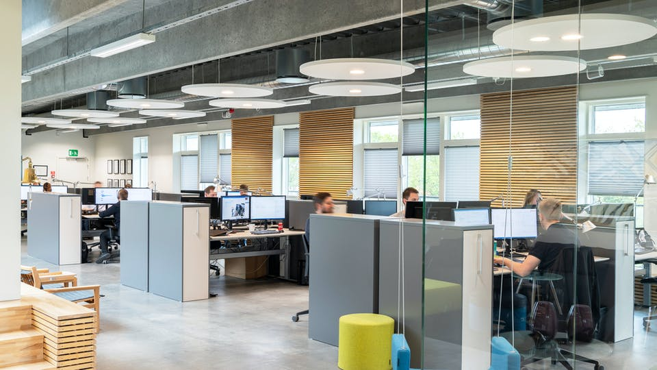 Acoustic ceiling solution: Rockfon Eclipse®, A - Circle