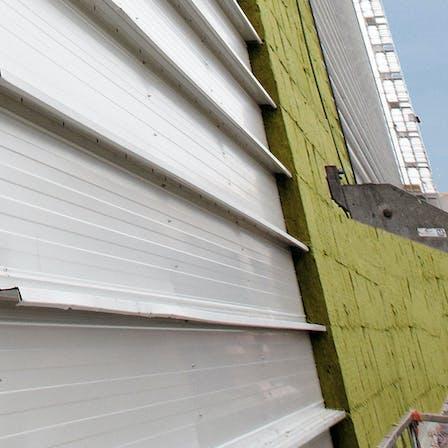 product, facade, wall, steel cassette wall, system, Steelrock Plus Dämmsystem, germany