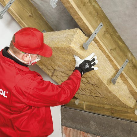 pitched roof, how to insulate, step 3