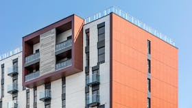 Beaumont Court and Richmond House in Southend on Sea, Essex (United Kingdom) with Rockpanel Stones FS-Xtra facade cladding
