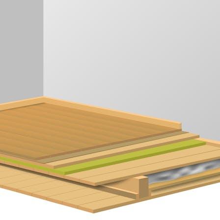 Product illustration, basement, sound, floor, insulation