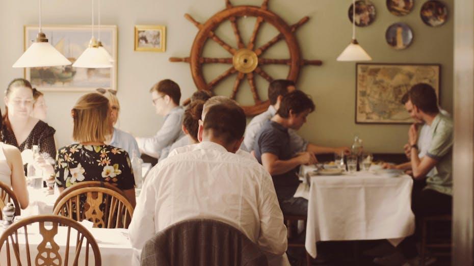 DK, Cafe Toldboden, Copenhagen, Leisure, Rockfon Eclipse, A-edge, 1160x1160, White, Restaurant, Pub, Nightclub