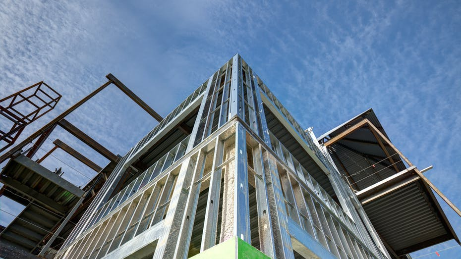 Steel frame construction, building type