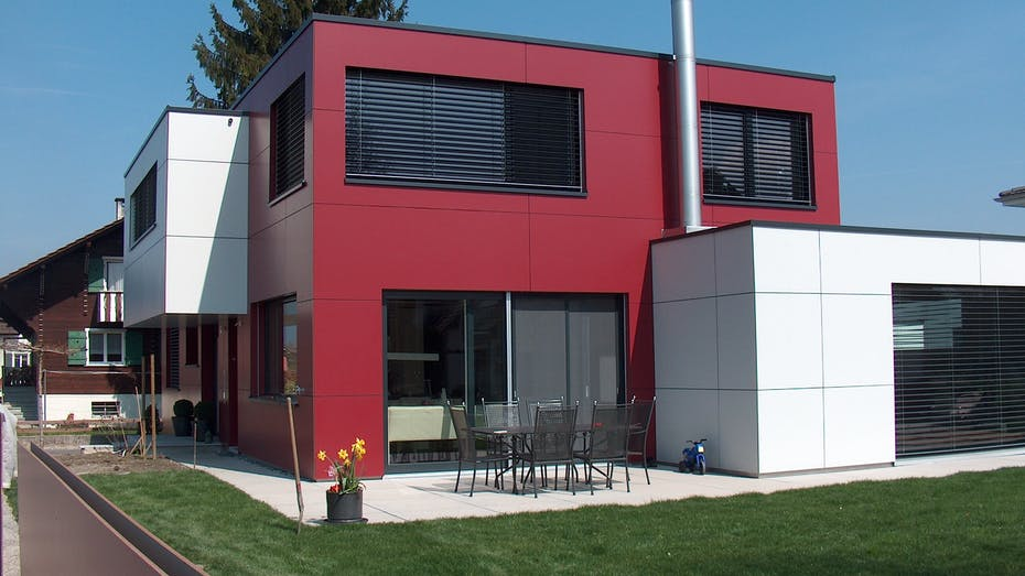 Single Family house in Widnau, Switzerland with Rockpanel Colours exterior cladding