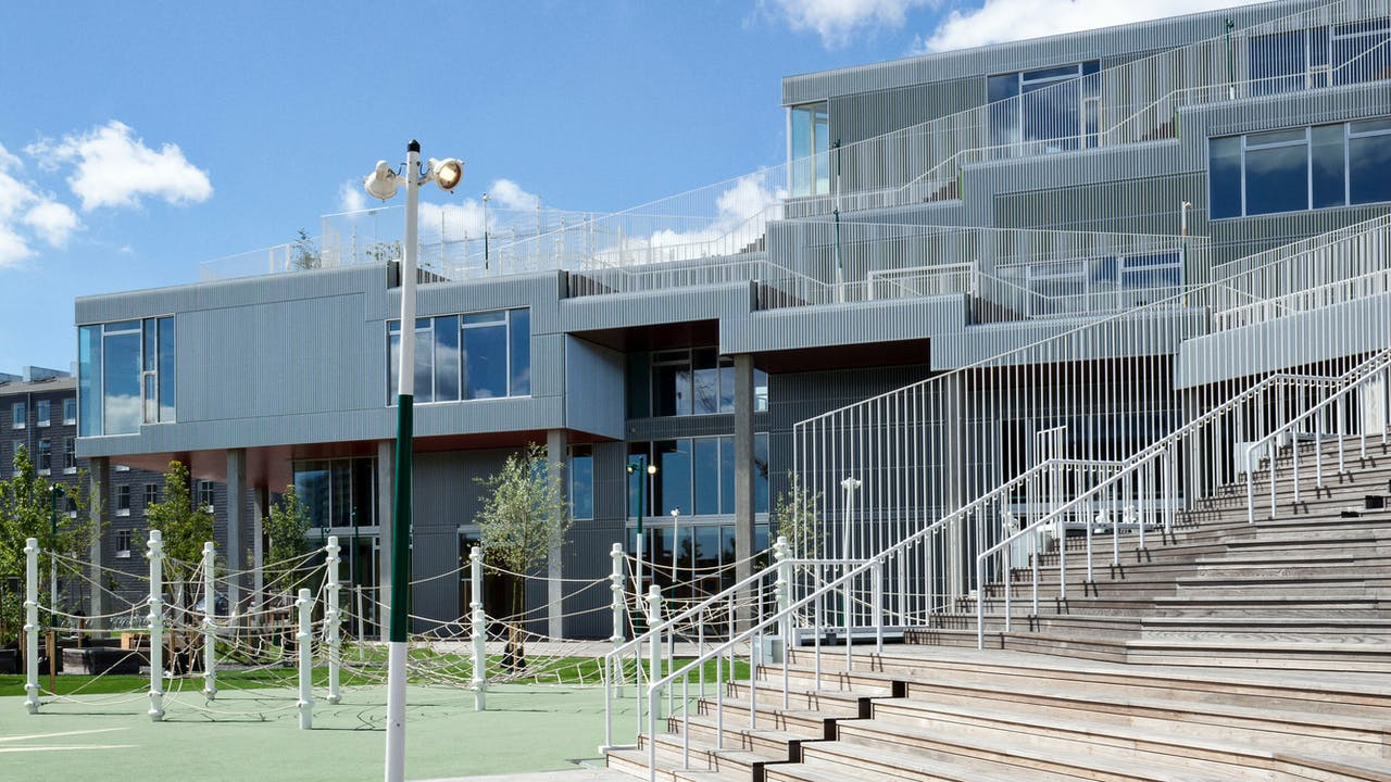 The new Sydhaven school in Copenhagen, Denmark with Rockpanel Colours exterior cladding