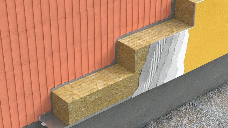 ETICS, external walls, lamella