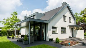 Revovation of a private house in Weert, The Netherlands with Rockpanel Colours exterior cladding.