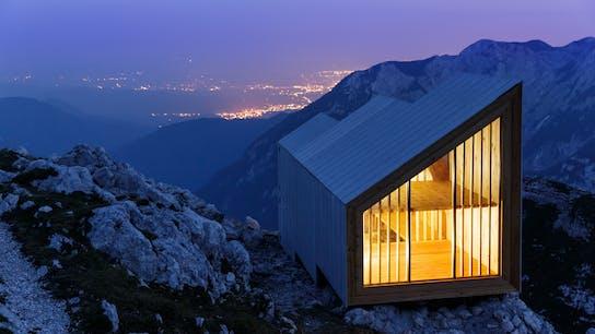 Skuta cabin, Slovenian alps