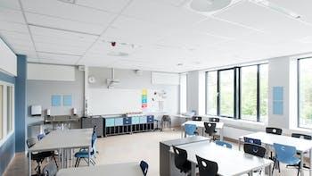 NO, Brynseng skole, HRTB Arkitekter AS MNAL, School, Rockfon Blanka Actvity, A,B edge, 1200x600, white, Chicago Metallic T24 Click 2890