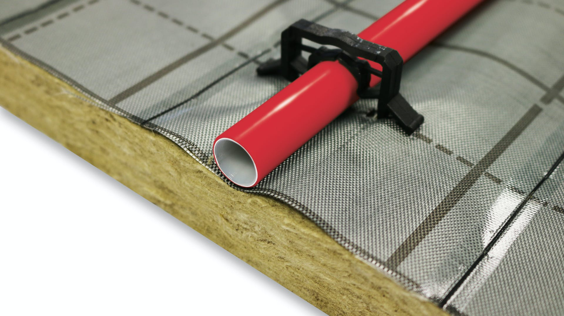 product, floor, sound insulation, trittschall, trittschalldämmung, fußboden, fußbodenheizung, floorrock, floorrock heat, red piping, germany