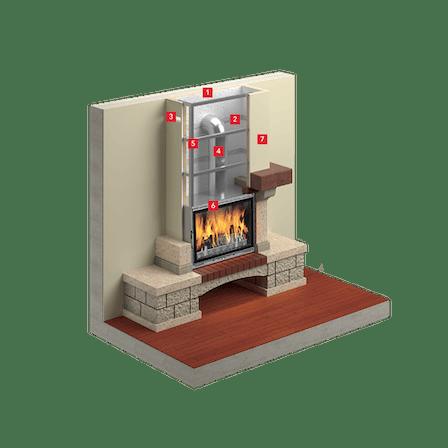 fireplace, insulation