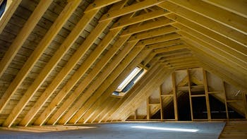 Attic, insulation, wood, construction, beam, room, home, wall