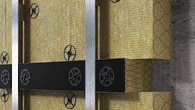 illustration, wall, facade, fixrock bwm brandriegel kit, germany