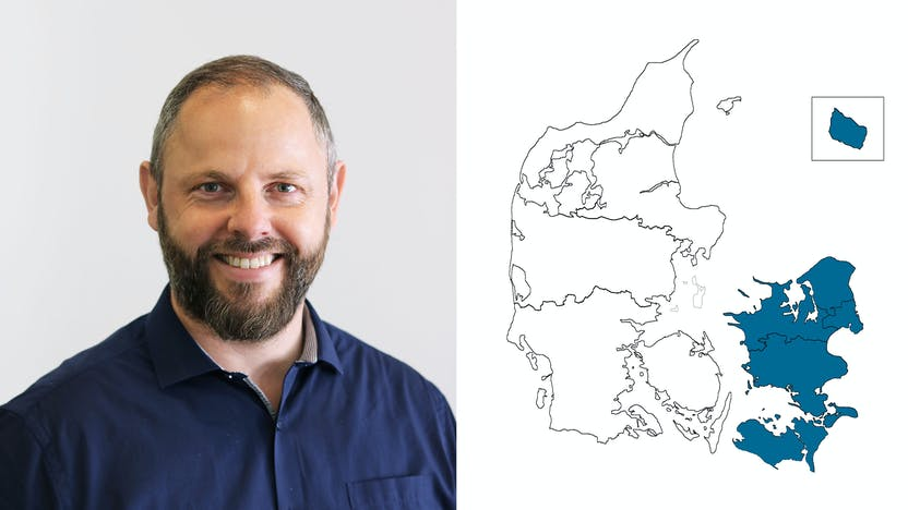 contact person, technical services, profile and map, entire country, Per Henrik Andreasen, DK