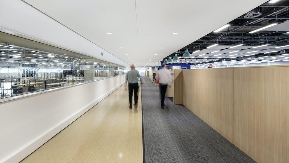 Acoustic ceiling solution: Rockfon Blanka®, X, 1800 x 600