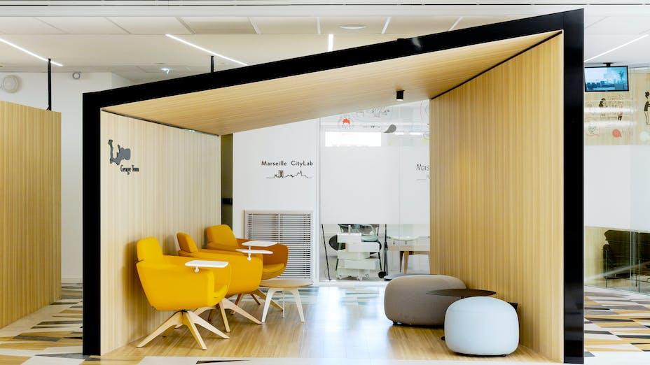 FR, World Trade Centre, Marseille, Tangram Architecture, Office, Rockfon Mono Acoustic, TE edge, White, Reception