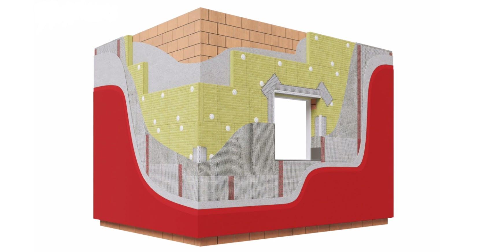 Why RW in ETICS, render fachada SATE