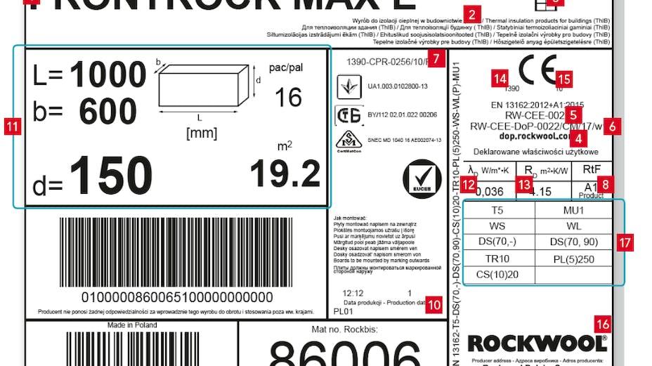 product label, label