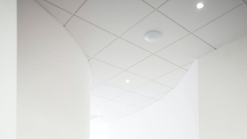 Toegepaste producten: Rockfon Blanka®, E15, 600 x 600