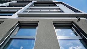 renovation office building, energy saving, facade insulation, rockwool office Gladbeck, ventilated facade, ETICS, wdvs, vhf, verwaltungsgebäude rockwool gladbeck, sanierung bürogebäude, energieeinsparung, fassadendämmung, press, presse, germany