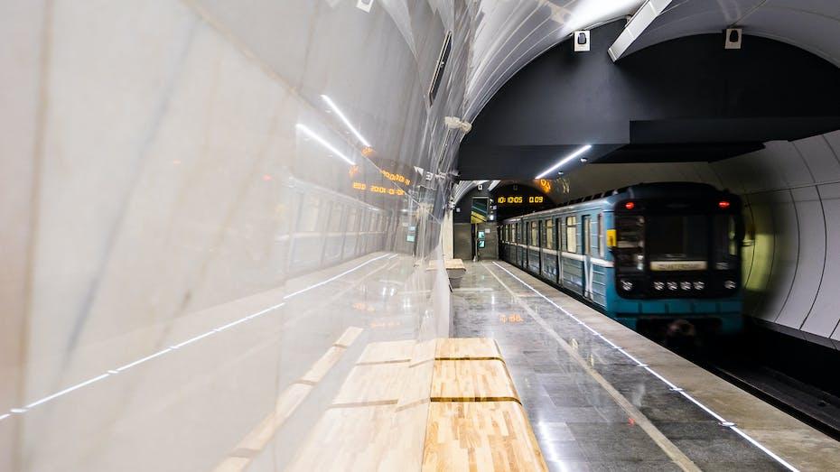 "Moscow, metro, subway, underground, tube, ""Verkhnie Likhobory"" station, Moscow Central Circle"