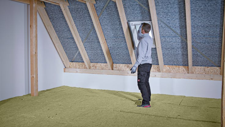 loft, attic, insulation, installation, installation steps, dachboden, oberste geschossdecke, verarbeitung, verarbeitungsschritte, germany, varirock, nicht begehbar