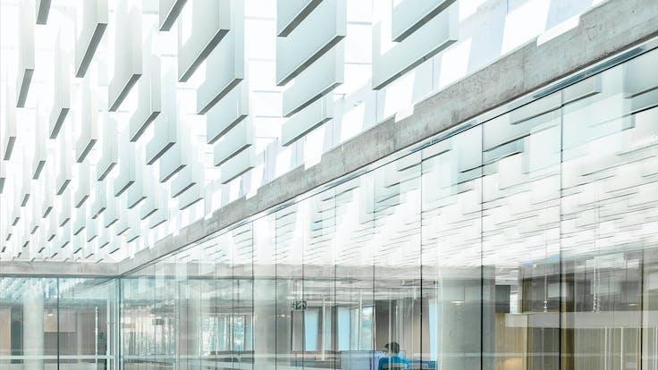 NO, Lysgården, Trondheim, HUS Arkitekter, Office, Rockfon Multiflex Baffle, 300x2400, White