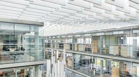 NO, Lysgården, Trondheim, HUS Arkitekter, Office, Rockfon Multiflex Baffle, Rockfon Mono Acoustic, 30x1200, White