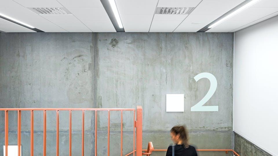 Acoustic ceiling solution: Rockfon® Koral™, 1200 x 600