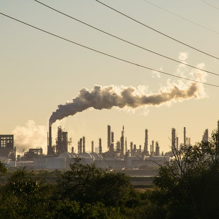 Factory, City, Plants, Trees, Pollution, Emissions