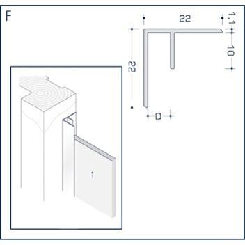Профиль F - углового стыка