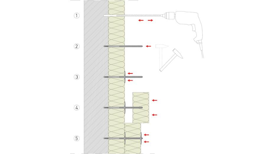 product, ventilated facade, wall, facade, vorgehängte hinterlüftete fassade, vhf, fixrock, schema, verlegung fixrock, germany