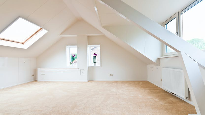 pitched roof, attic, renovation, insulation