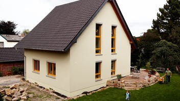building, house, home, single family house, single family home, single-family house, single-family home, reference, etics, pitched roof, refurbishment, renovation, oberhausen, germany