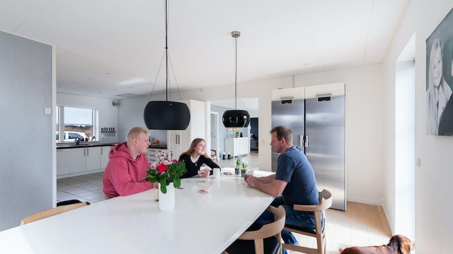 Private home (kitchen) in Højby Denmark with Rockfon Blanka in G-edge