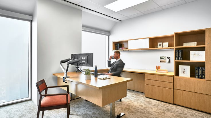 NA, Winstead Law Firm, office, private office, modern, 1200, suspension system, grid, Artic, SQ, 2x2, acoustics