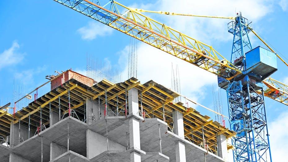 Construction, Crane, Building