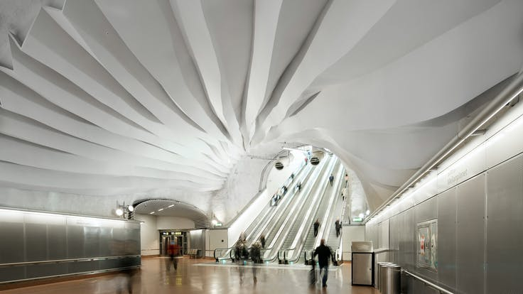 SE, Stockholm Station, Leisure, Metro station, Rockfon Mono Acoustic, TE