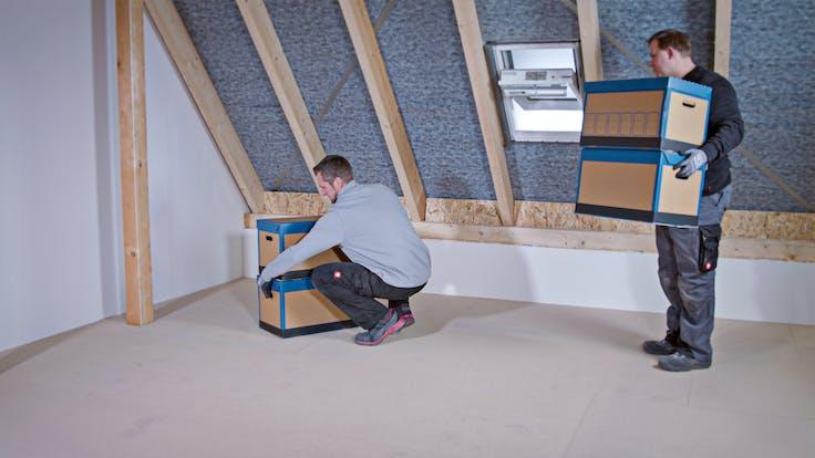 loft, attic, insulation, installation, installation steps, dachboden, oberste geschossdecke, verarbeitung, verarbeitungsschritte, germany, tegarock, holzplatten, osb platten